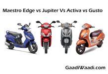 Maestro Edge vs Jupiter Vs Activa vs Gusto