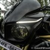 Mahindra Mojo owl inspired headlight