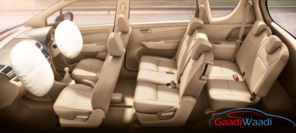Maruti Ertiga SHVS Facelift airbags