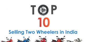 top 10 selling two wheelers in india