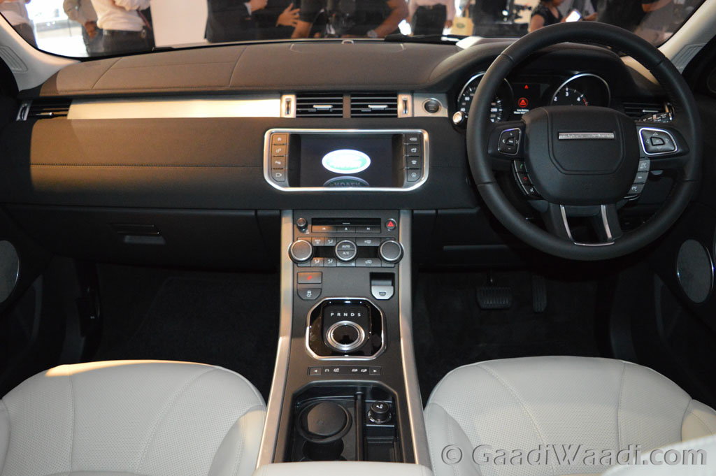 range rover evoque interior pics in india. Black Bedroom Furniture Sets. Home Design Ideas