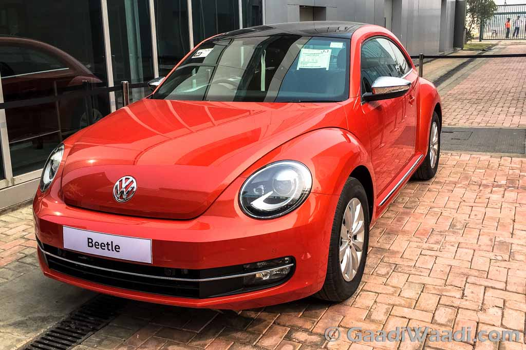 2016 VW Beetle Displayed at BIC, launching on 19th December - Gaadiwaadi.com
