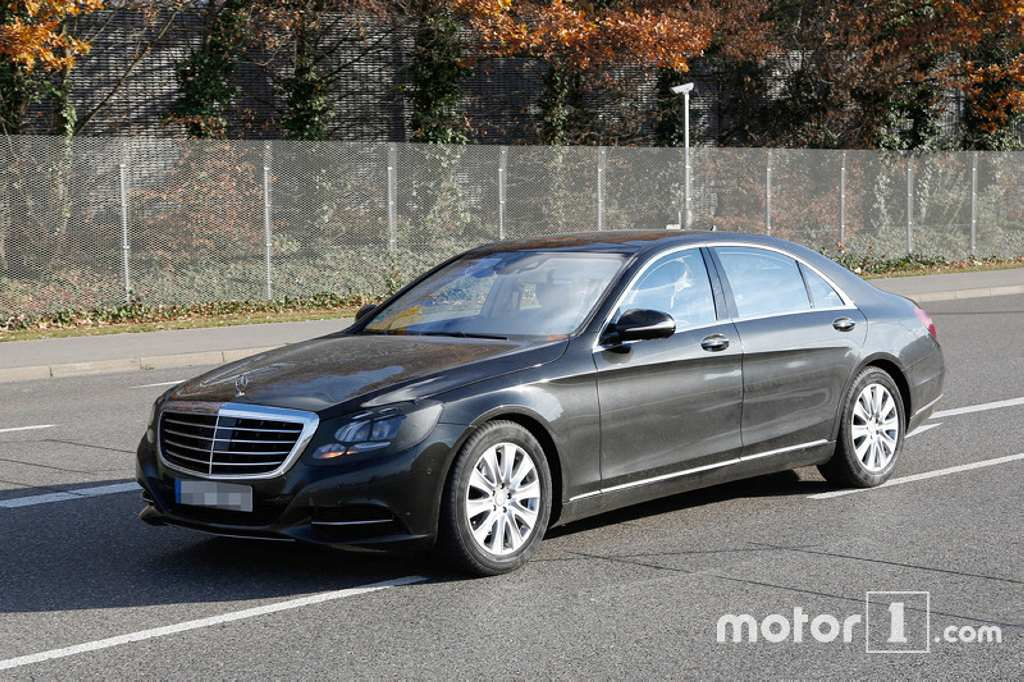 2017 mercedes s class facelift spied subtle changes. Black Bedroom Furniture Sets. Home Design Ideas