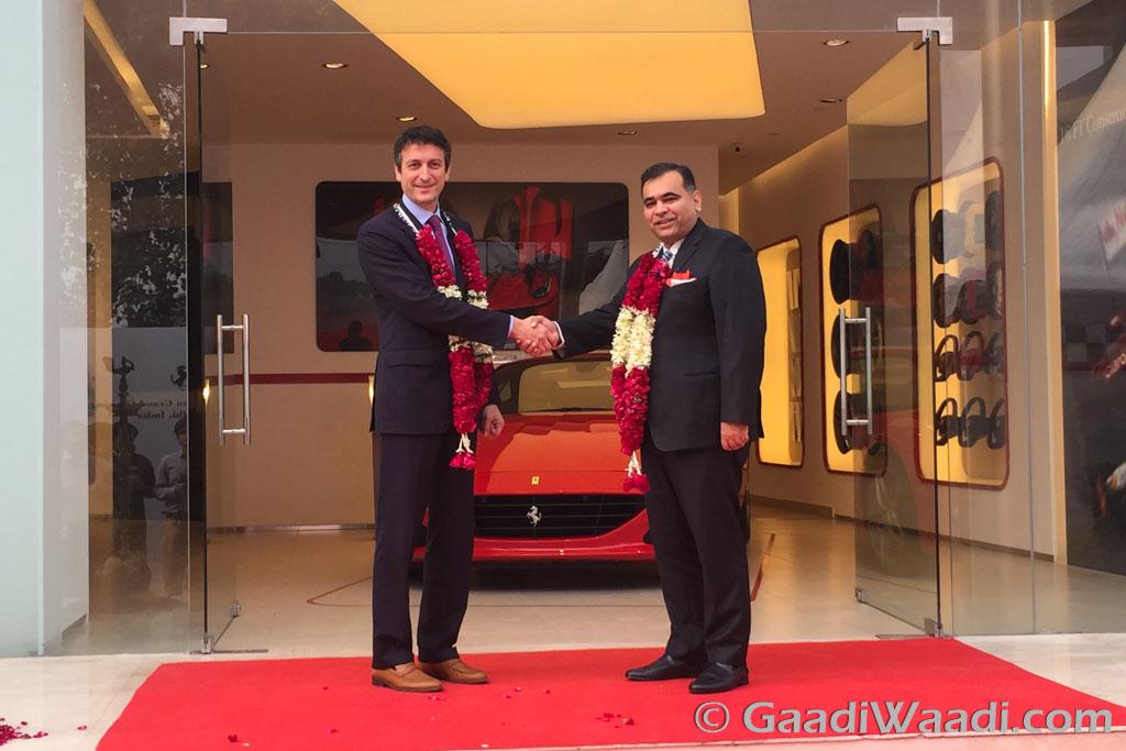 Ferrari inaugurates its new showroom in New Delhi-1-2