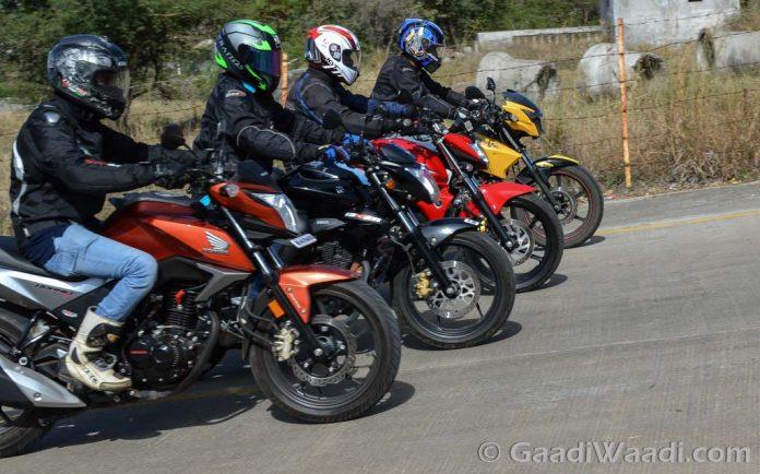 Honda CB Hornet vs Suzuki Gixxer vs TVS Apache vs Yamaha FZ16 (10)