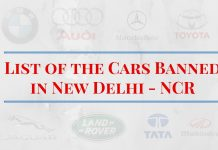 List of the Cars Banned-in New Delhi - NCR