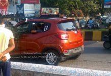 Mahindra XUV100 Mahindra S101 undisguised