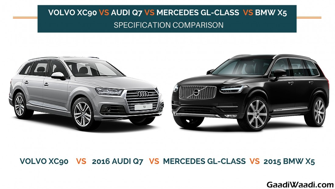 volvo xc90 vs audi q7 vs mercedes gl class vs bmw x5 specs comparison. Black Bedroom Furniture Sets. Home Design Ideas