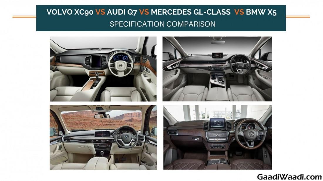 Volvo XC90 vs Audi Q7 vs Mercedes GL-Class vs BMW X5 ...