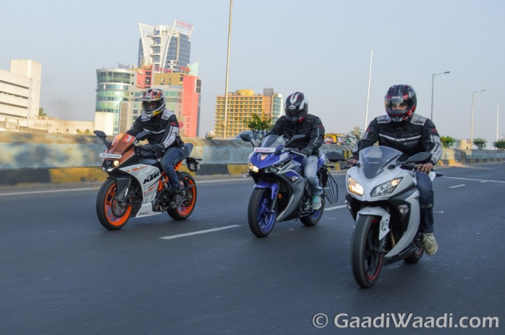 Yamaha R3 vs KTM RC390 vs Kawasaki Ninja300-1