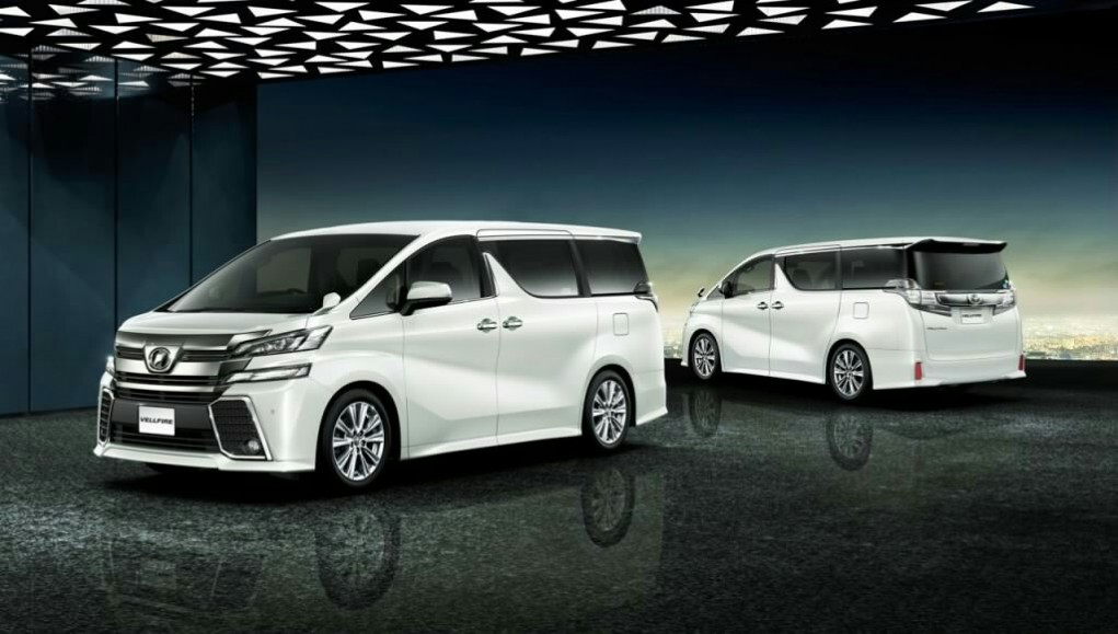 2015 Toyota Vellfire Front and Rear