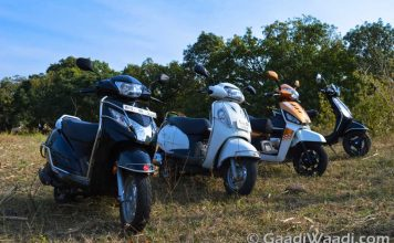 Gusto 125 vs Activa 125 vs Access 125 vs Vespa S - Comparison Shootout-2