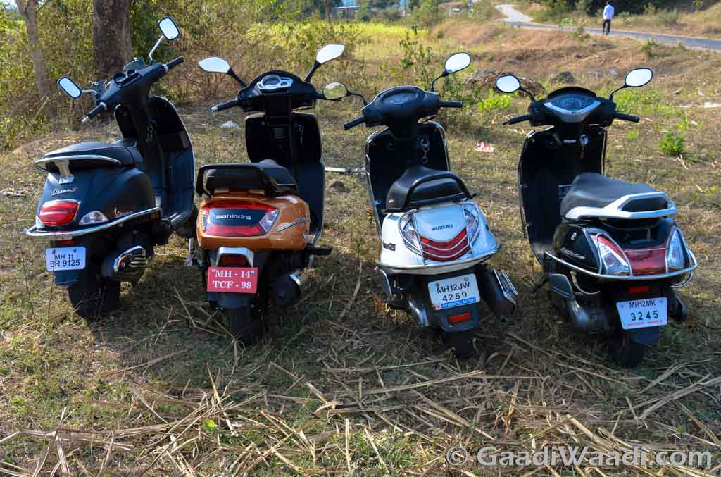 Gusto 125 vs Activa 125 vs Access 125 vs Vespa S - Comparison Shootout-3