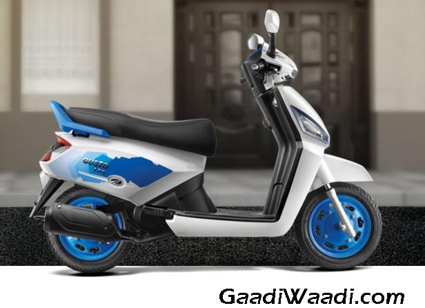 Mahindra Gusto 125 bolt white