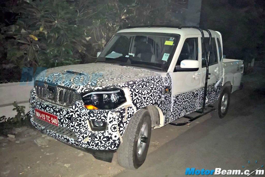 Mahindra Scorpio Pickup Test Mule