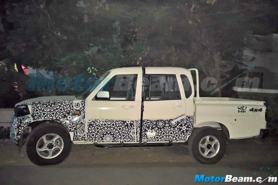 Mahindra Scorpio Pik Up Facelifted Pickup Truck Spied In