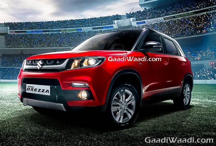 Maruti Suzuki Vitara Brezza red india