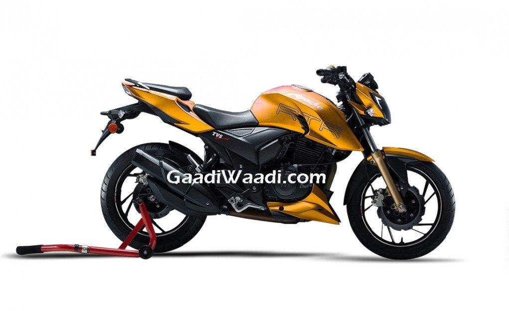 TVS Apache RTR 200 4V yellow