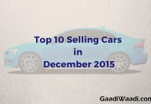 Top 10 Selling cars of December 2015 in India