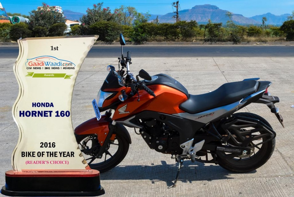 2016 gaadiwaadi reader's choice award - bike of the year