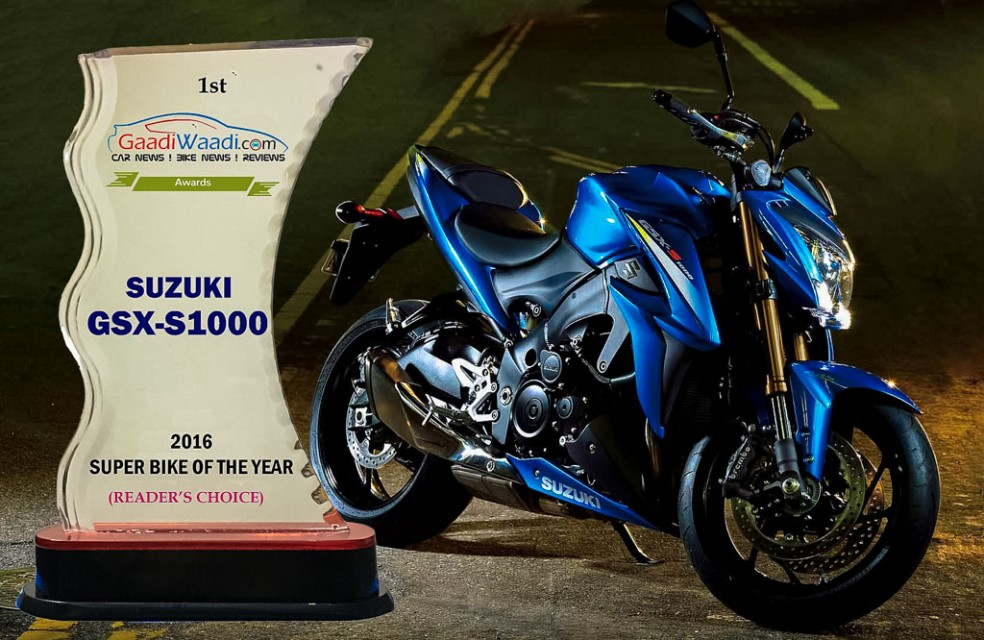 2016 gaadiwaadi reader's choice award - superbike of the year