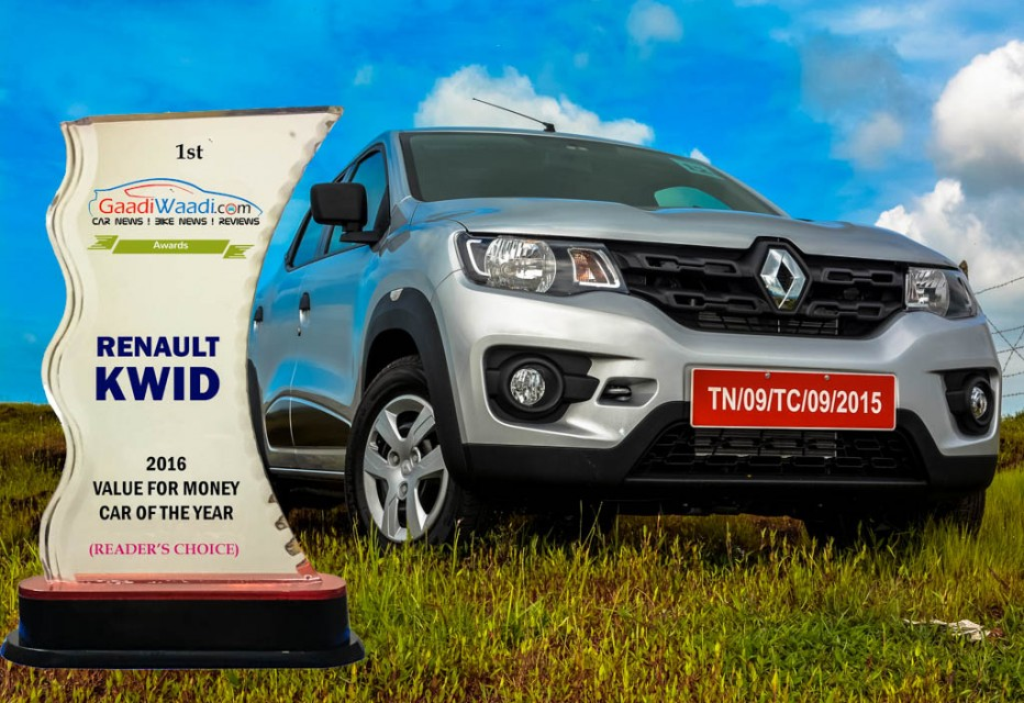 2016 gaadiwaadi reader's choice award - vfm car of the year