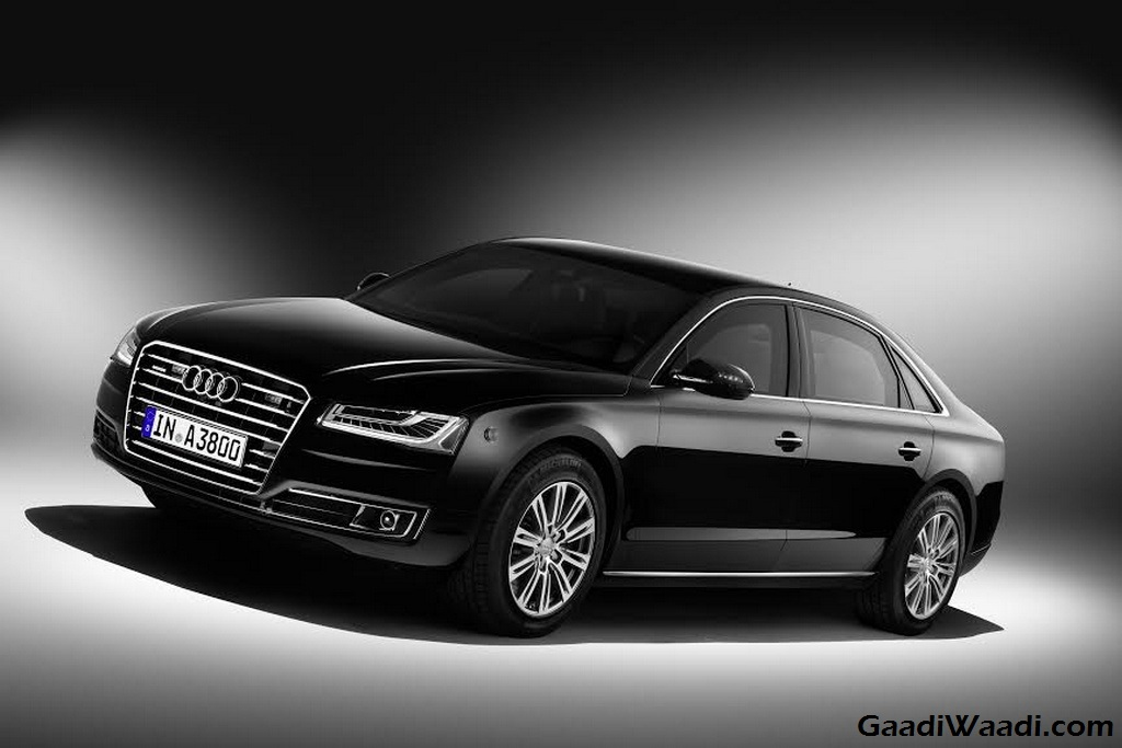 audi a8 l security launched at 2016 delhi auto expo. Black Bedroom Furniture Sets. Home Design Ideas