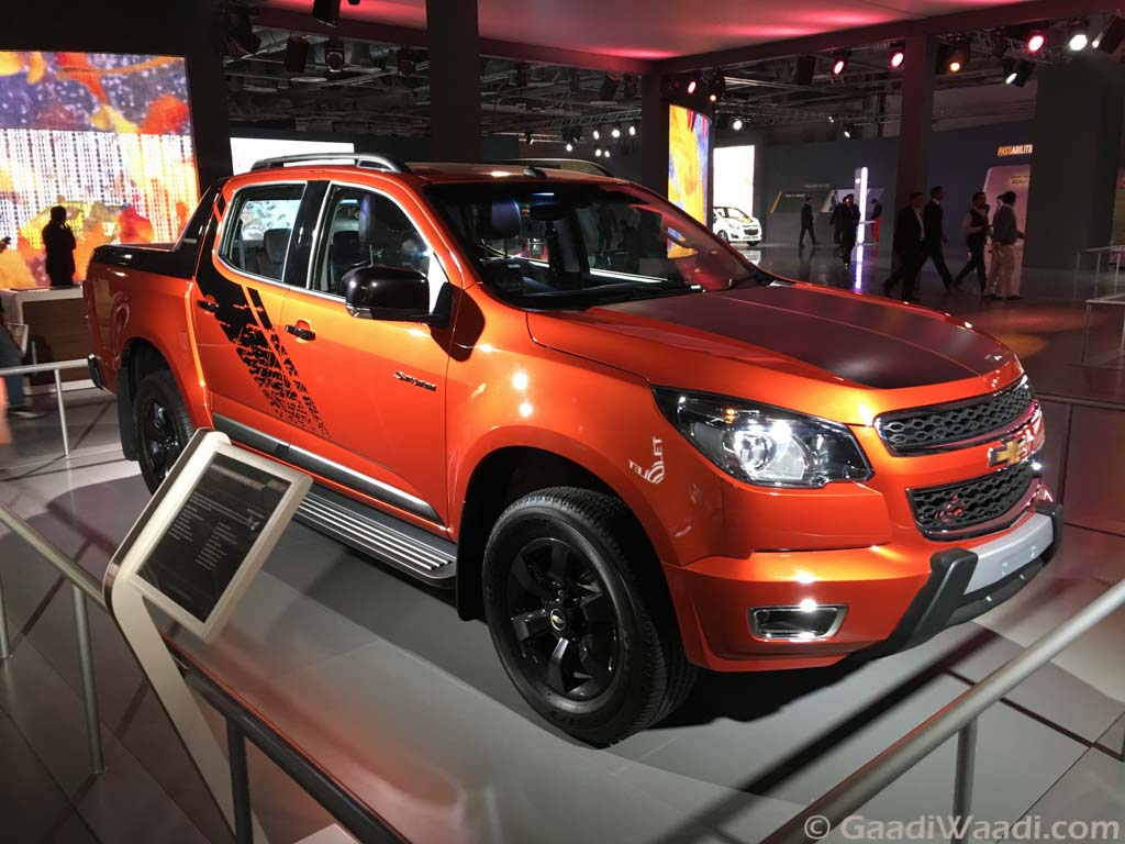 chevrolet colorado pickup revealed in india at 2016 delhi auto expo latest. Black Bedroom Furniture Sets. Home Design Ideas