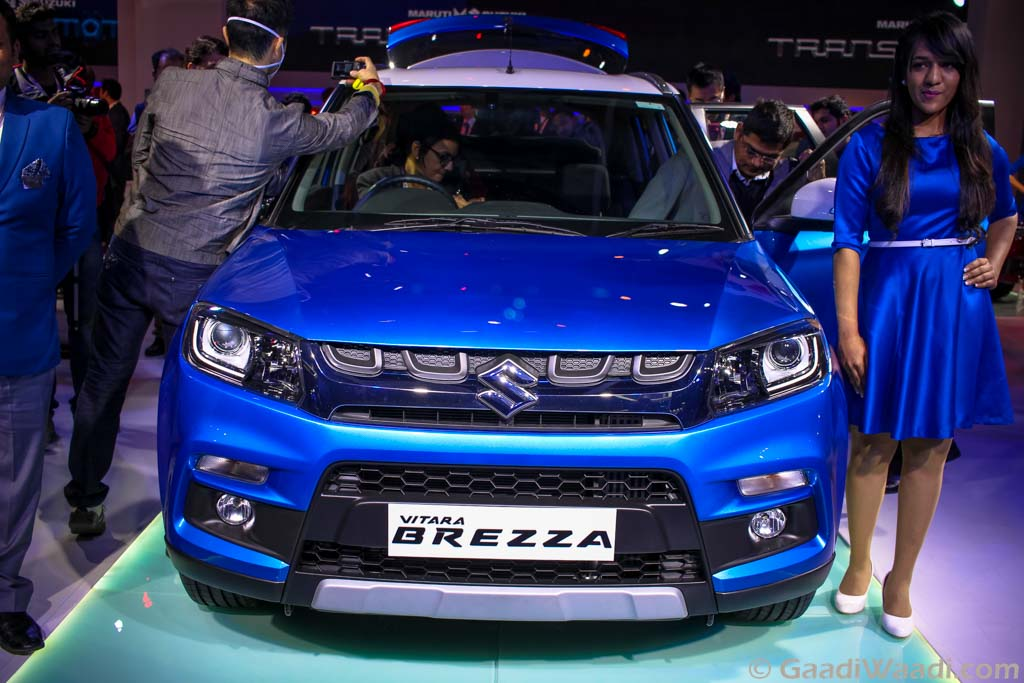 2016 Auto Expo: Maruti Suzuki Vitara Brezza Launched - Gaadiwaadi.com - India Cars News, Bike ...
