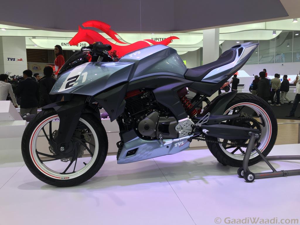 2016 Delhi Auto Expo Tvs X21 Is The Race Concept Of The