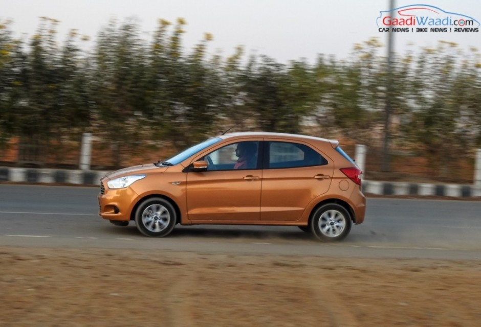 2015 ford figo hatchback side view