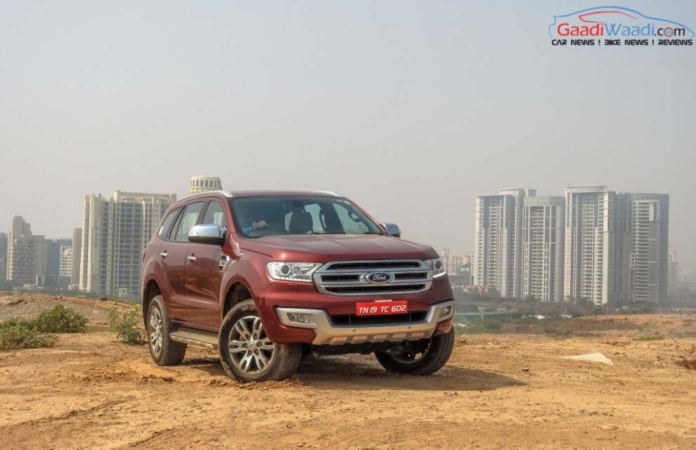 2016 ford endeavour 3.2 india front