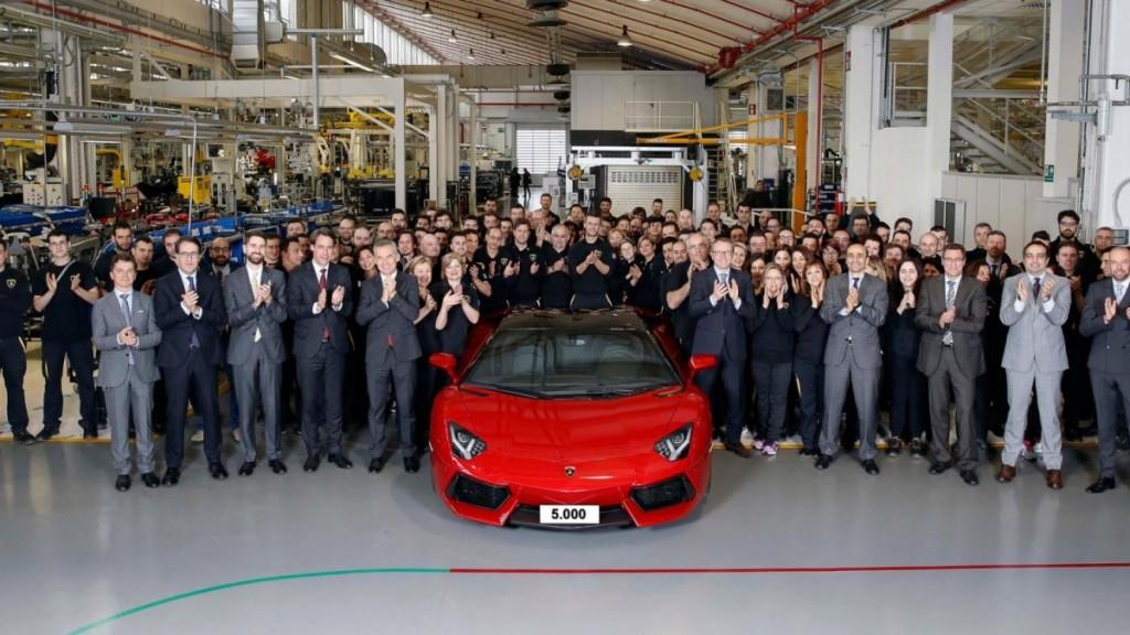 5000th Lamborghini Aventador