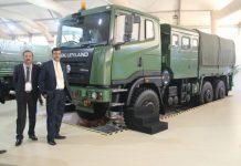 Ashok Leyland Showcased Four Advanced Products at Defexpo 2016