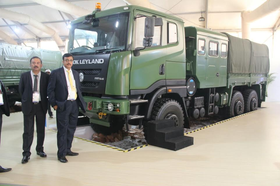 Ashok Leyland Showcased Four Advanced Products at Defexpo 2016