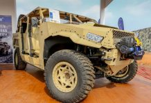 DAGORT (Deployable Advance Ground Off-Road) on display at Defexpo 2016