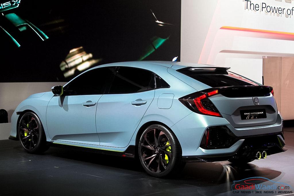 Honda Civic Hatchback Prototype Uncovered at 2016 Geneva ...