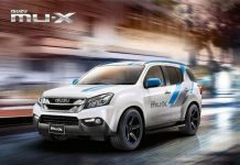 India-Bound Isuzu MU-X Blue Power SUV 1