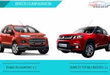 Maruti Vitara Brezza vs ford ecosport Spec comparison Infographics.jpg3