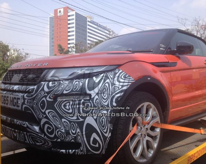 Range Rover Evoque Convertible Caught Testing In India 2