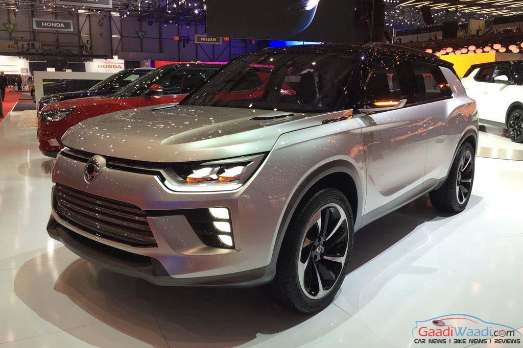 SsangYong XLV (7 seater Tivoli) Appears at 2016 Geneva ...