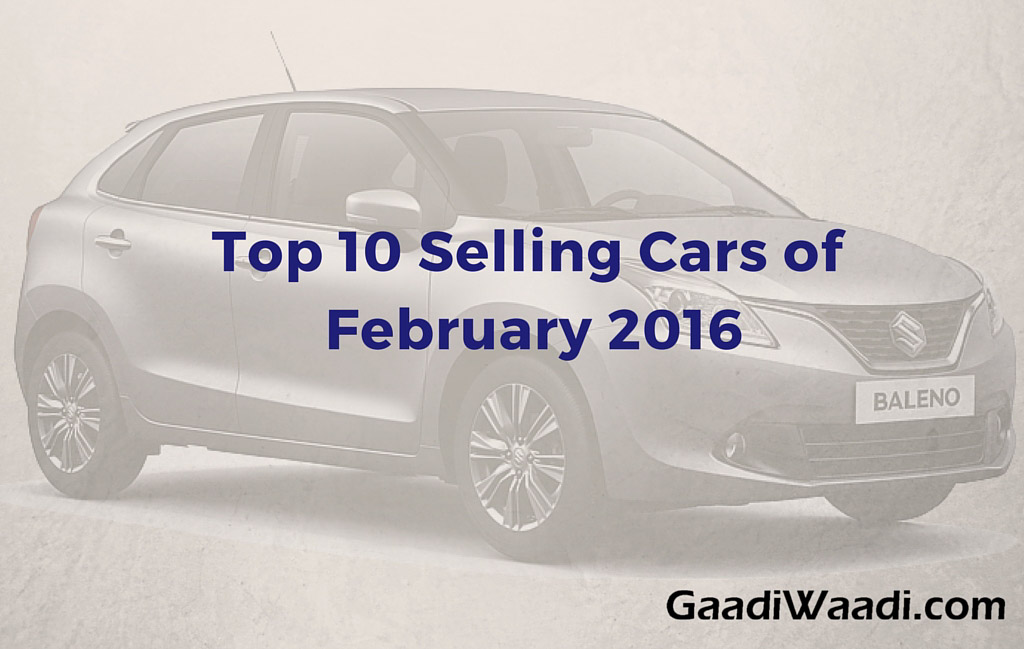 Top 10 Selling Cars in February 2016- Car Sales Analysis_