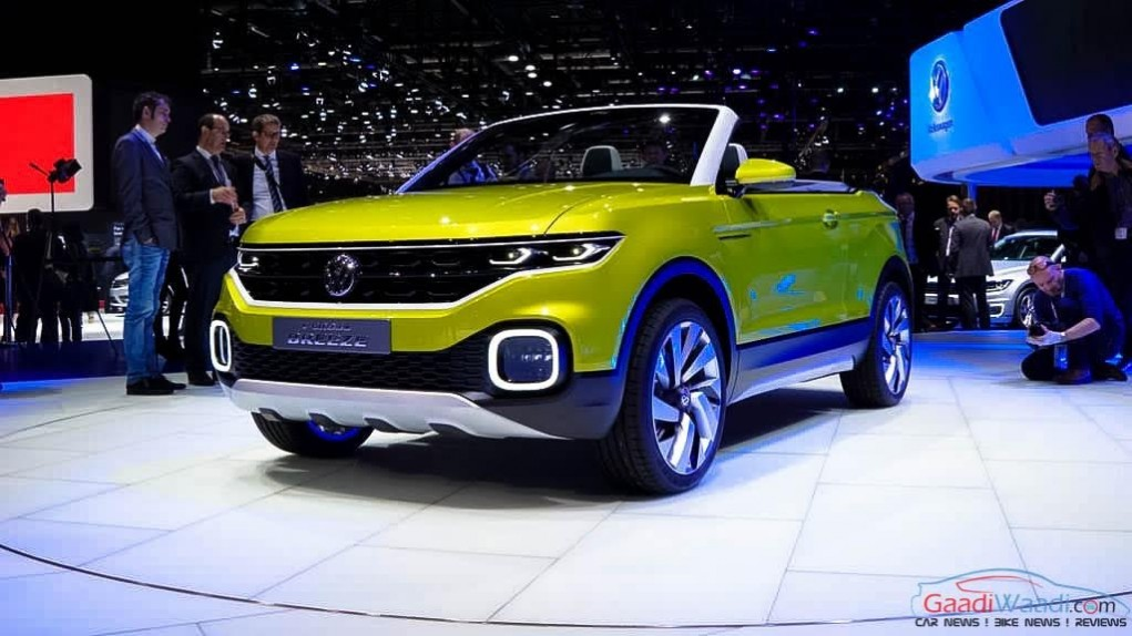 Volkswagen T-Cross Breeze Concept front fascia