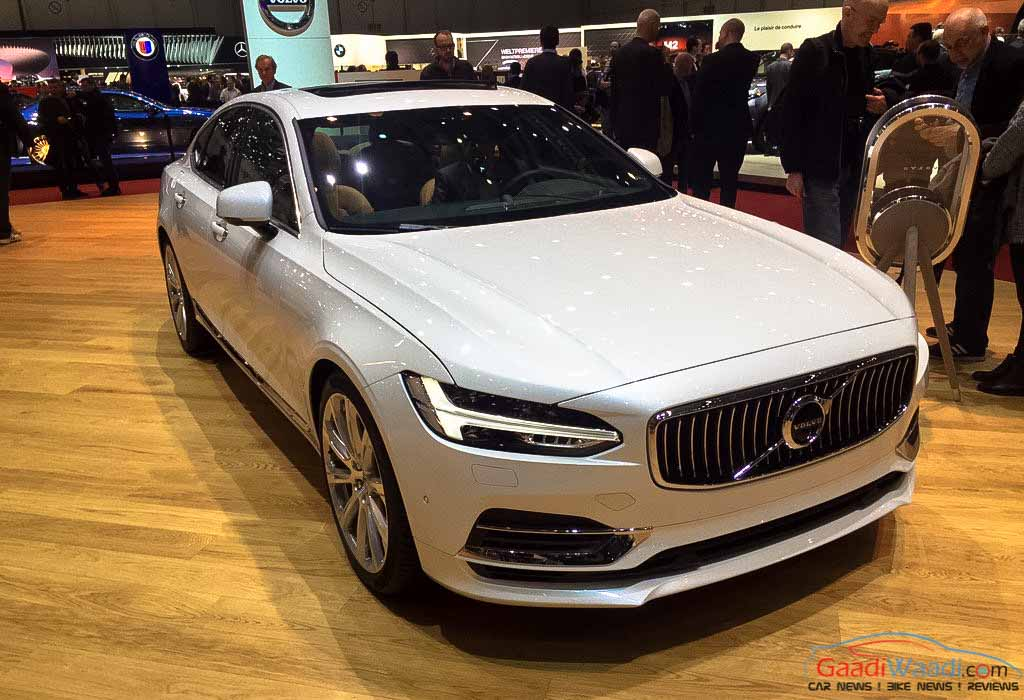 Geneva Auto Sales >> Volvo S90 Debuts on European Soil at 2016 Geneva Motor Show - Gaadiwaadi.com - India Cars News ...