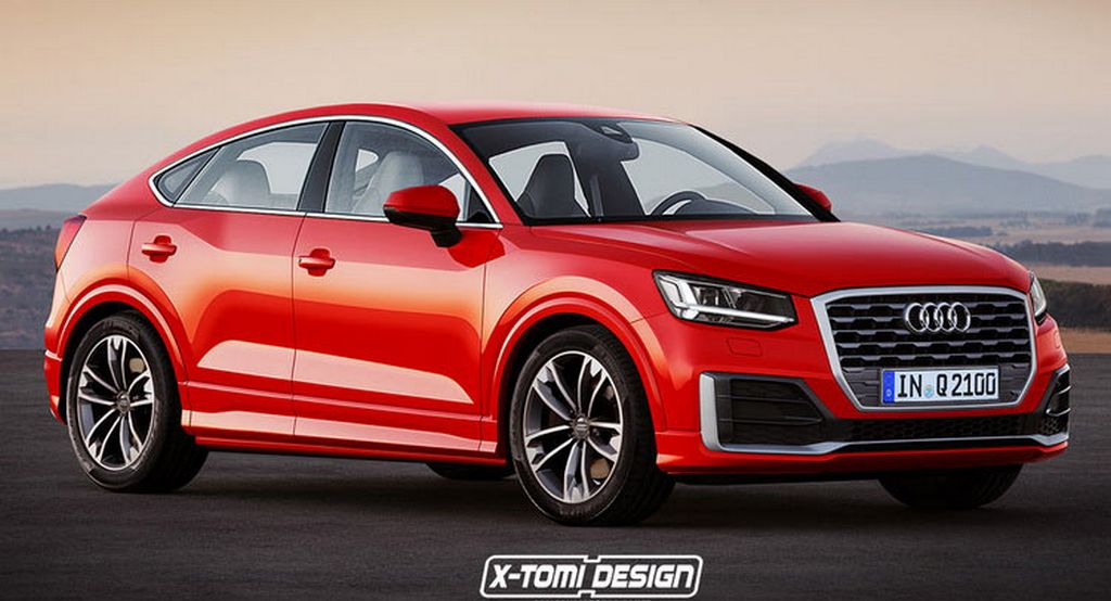 Audi Q2 Coupe-ish Sportback Rendered