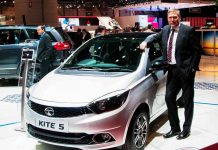 tata kite 5 compact sedan at geneva auto show