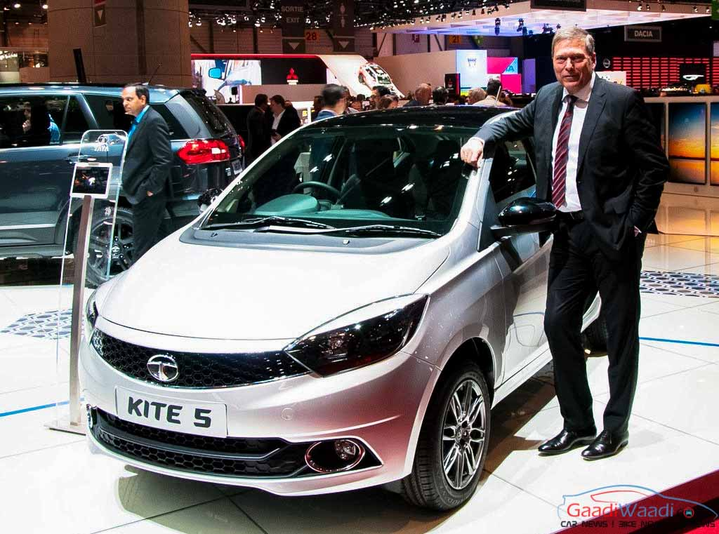 tata kite 5 compact sedan at geneva auto show