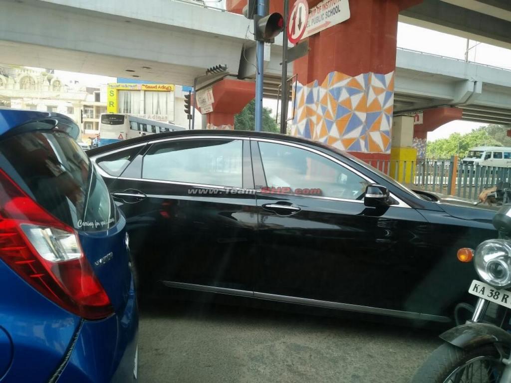 Hyundai Genesis Spotted Testing in India  Gaadiwaadicom