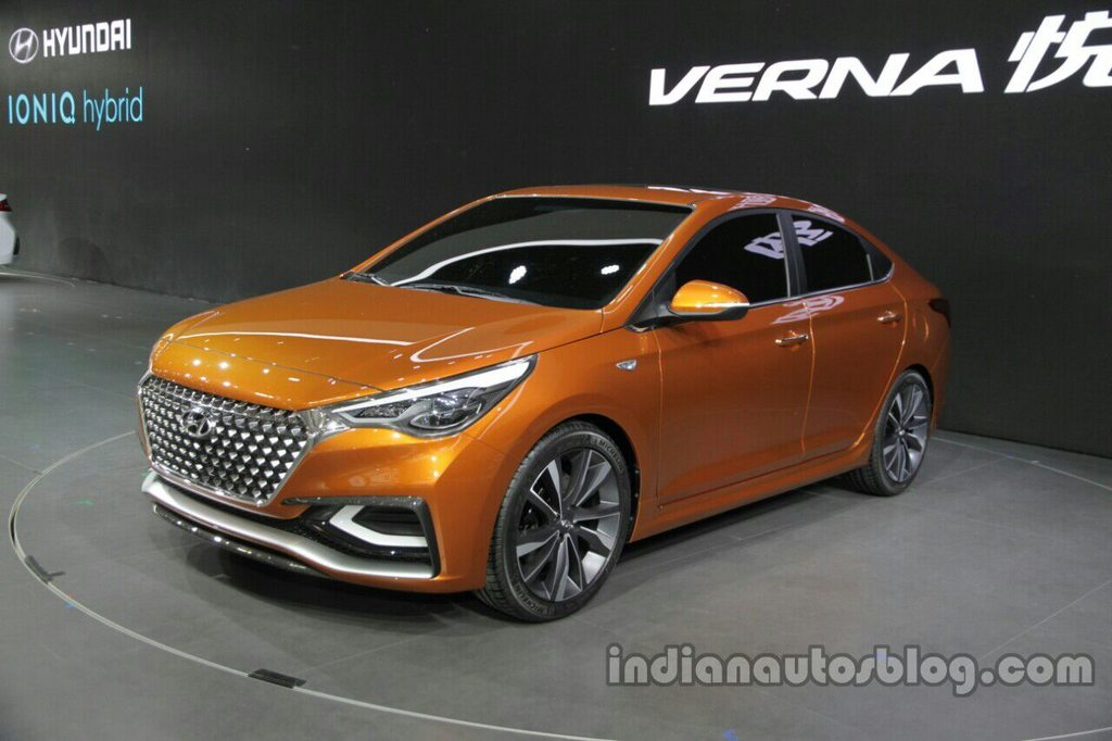 hyundai new car release in indiaHyundai Verna Concept Unveiled at the Auto China 2016 4
