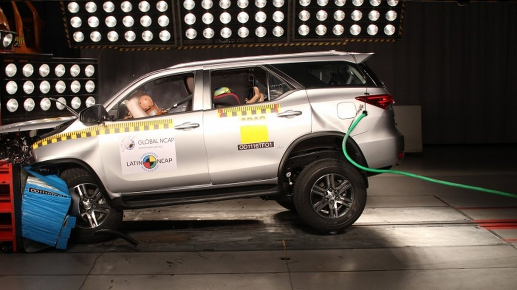India-Bound Toyota Fortuner Rated Five Stars in Latin NCAP